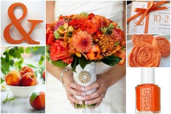 Frische Hochzeitsdeko in Ivory Orange  Friedatheres.com