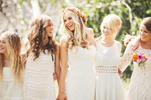 Hippie Hochzeit Brautjungfern