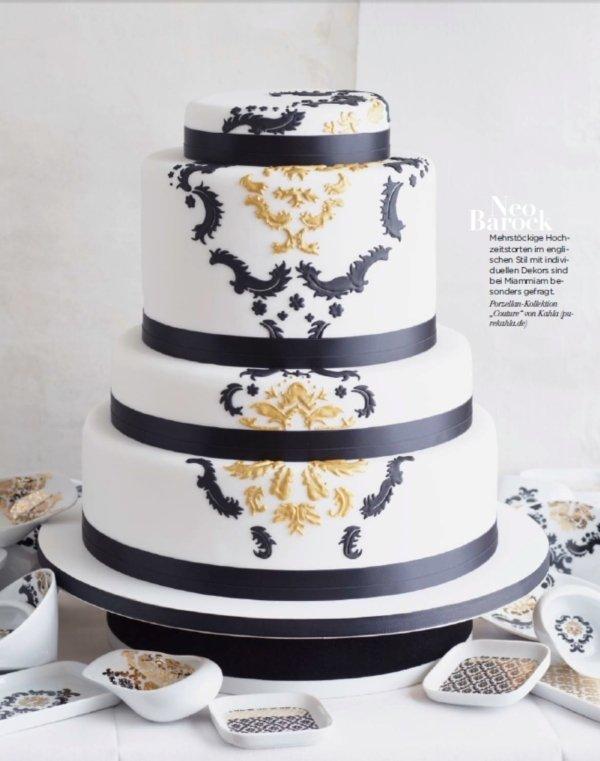 Hochzeitstorten im Design des Porzellans  Friedatheres.com