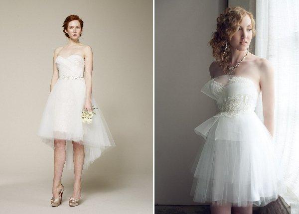 Kurze Brautkleider für die Sommerhochzeit oder die standesamtliche ...