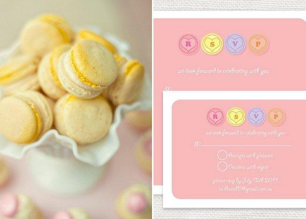 Rosa gelbe Hochzeitsdeko