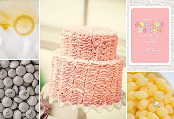 Hochzeiten in gelb rosa und grau - Hochzeitsdeko grau rosa ...