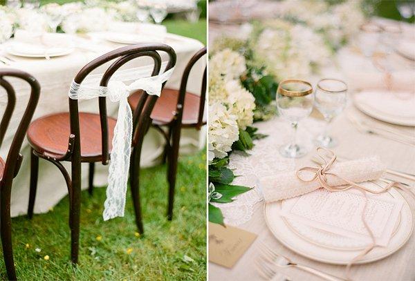 Zeitlos Sch Ne Hochzeitsdekoration In Ivory Und Gr N