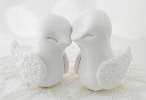 Caketopper Hochzeit Vogel