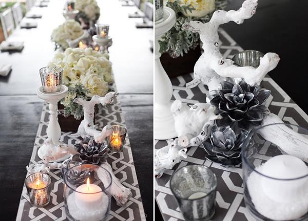 Hochzeitsdeko Weiss Silber