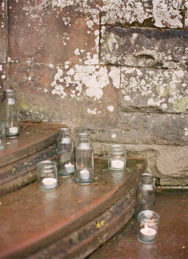Tolle Ideen Kerzen Und Lichterketten Auf Der Hochzeit