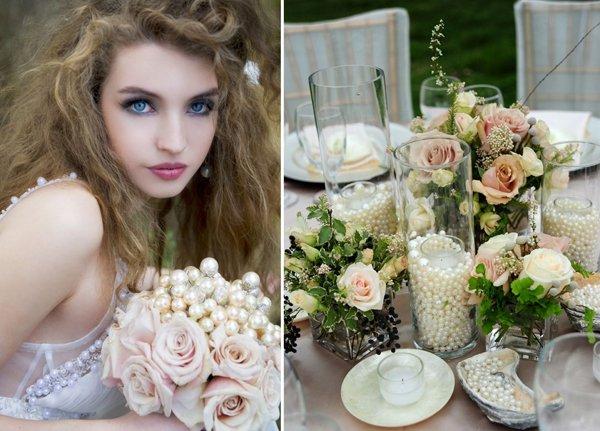 Perlendeko Hochzeit