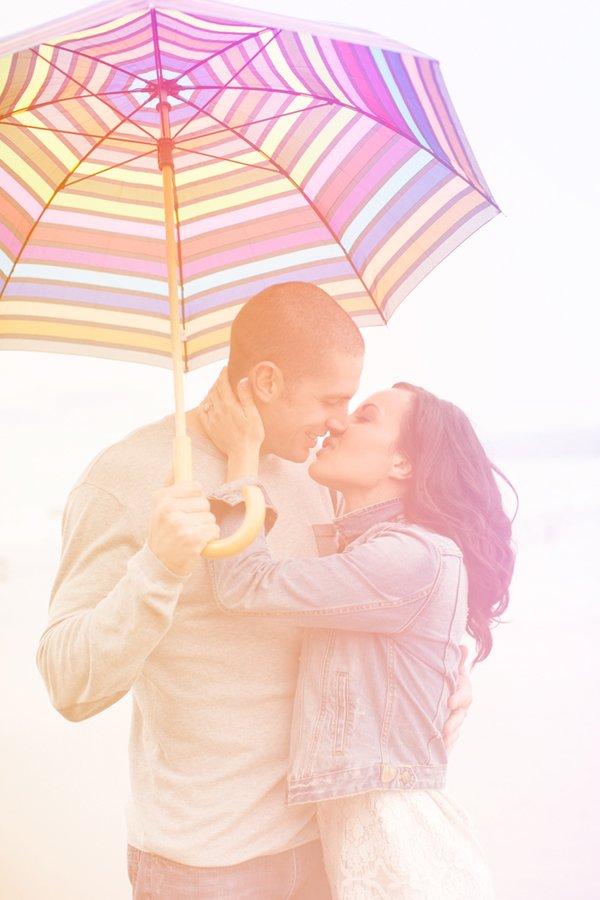 Verlobungsshoot im Regen