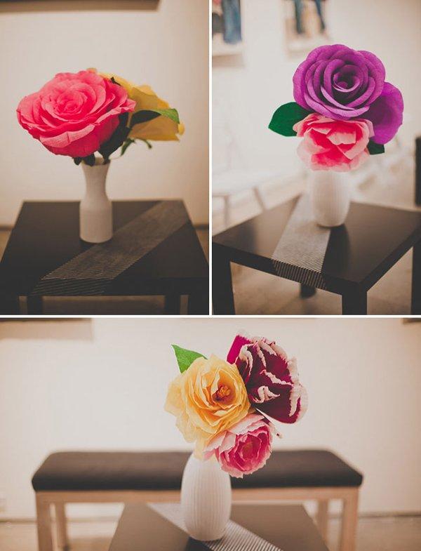 Hochzeit mit riesiger Papierblume (14)