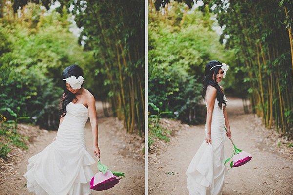 Hochzeit mit riesiger Papierblume (6)