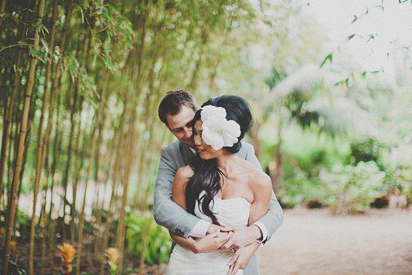 Hochzeit mit riesiger Papierblume (8)