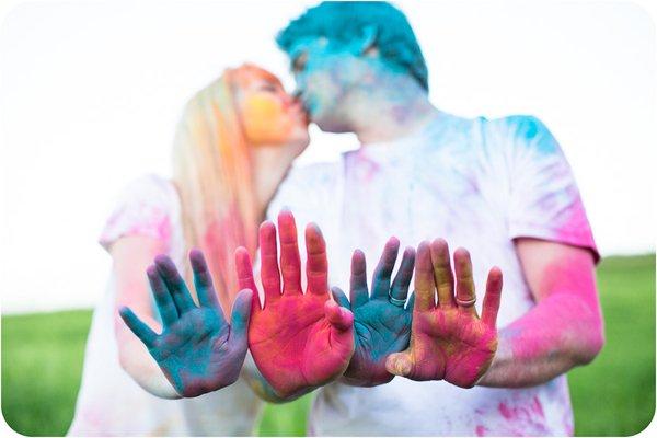 Verlobungsbilder mit Farbpuder (13)