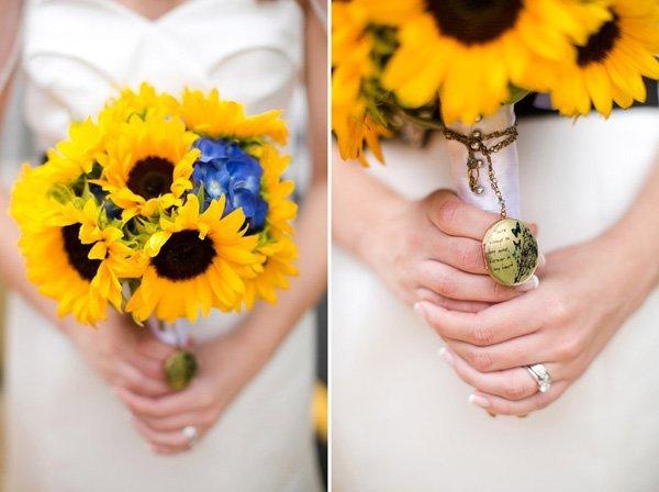 Sommerhochzeit mit Sonnenblumen (1)