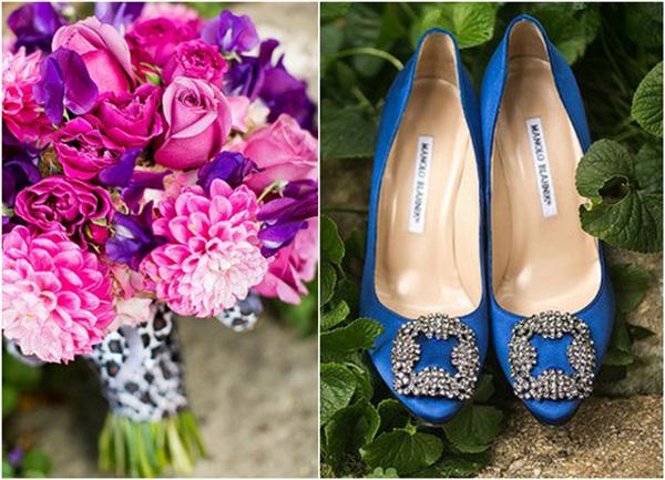 Blaue Pumps Hochzeit