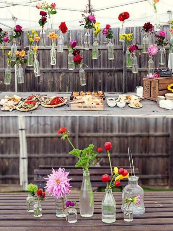 Cute Backyard Engagement Party Ideas : H?ngende Blumendeko f?r die Hochzeit  Friedatherescom