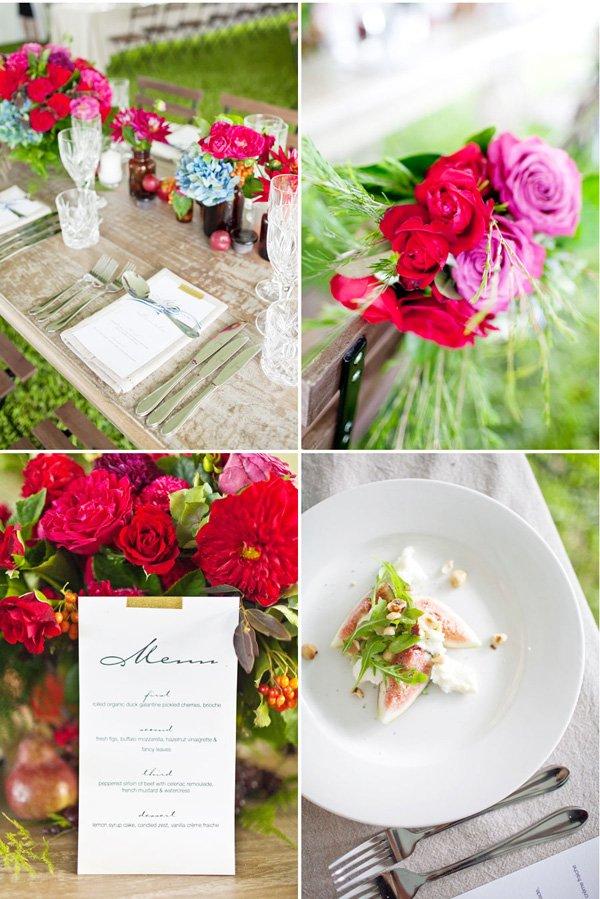L ssige gartenhochzeit in pink und rot for Gartenhochzeit deko