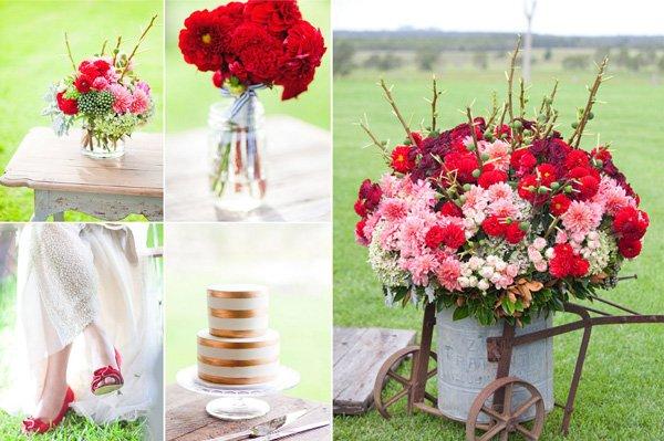 Lassige Gartenhochzeit In Pink Und Rot Friedatheres Com