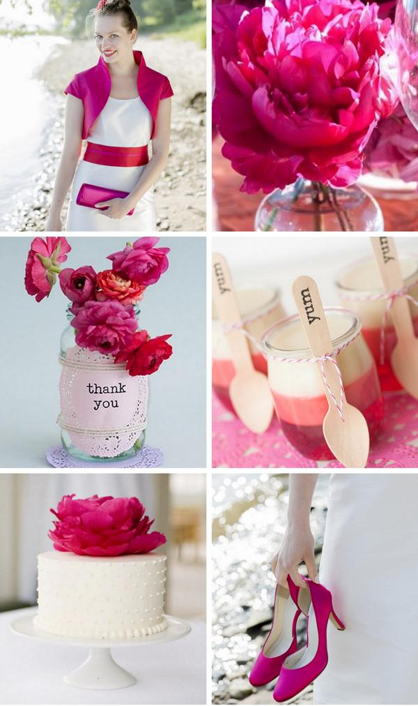 hochzeitskleid pink