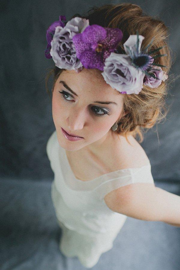 Haarkranz aus echten Blumen (1)