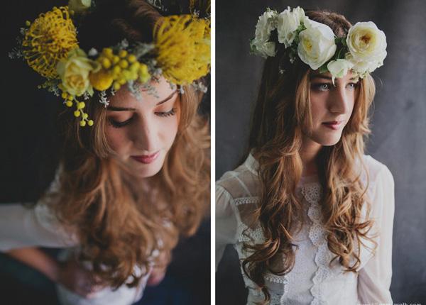 Haarkranz aus echten Blumen (2)