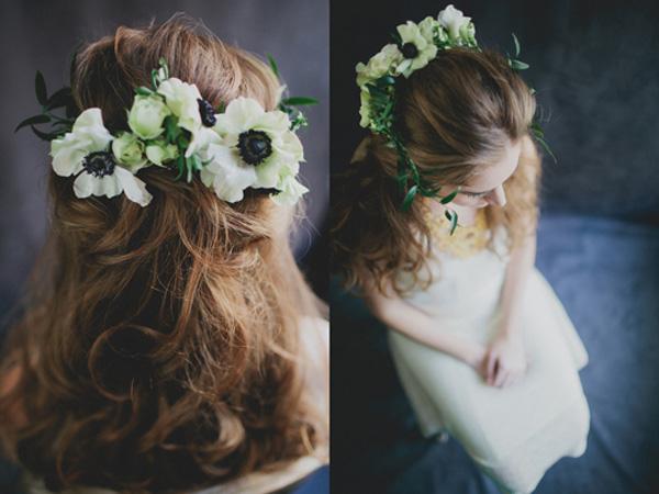 Haarkranz aus echten Blumen (4)