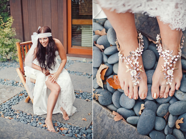 Hippie Wedding Photos Cake Ideas and Designs