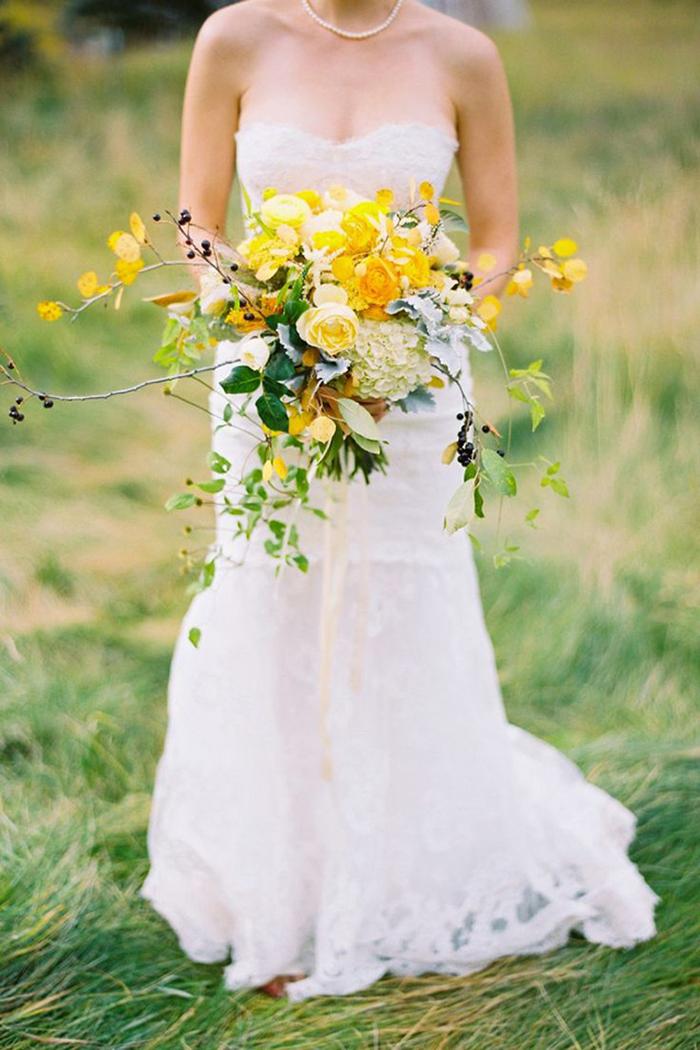 Brautstrauss gelb (9)