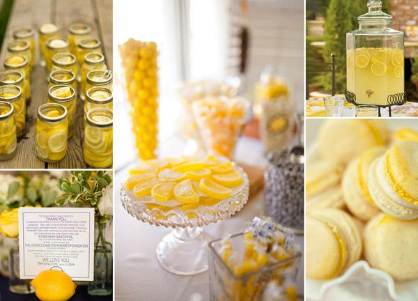 Hochzeitsdeko mit zitronen for Hochzeitsdekoration