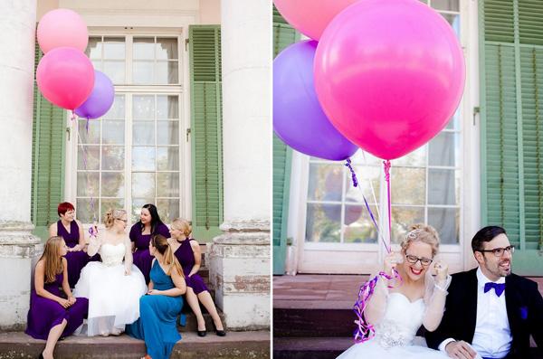 Hochzeitsfotos-Ballons
