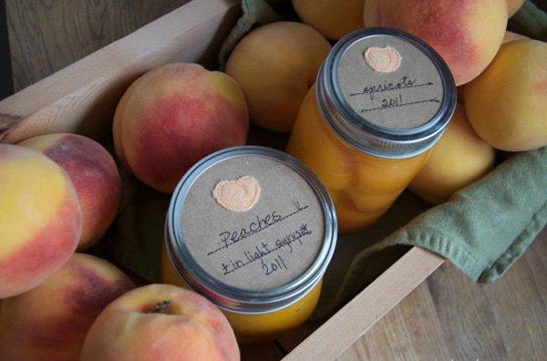 gastgeschenk hochzeit mit Pfirsich