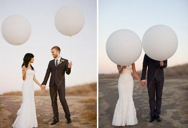 hochzeit weisse ballons