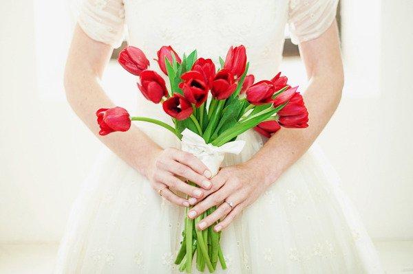 Brautstrauss Tulpe rot
