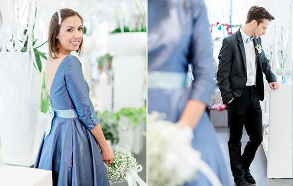 Noni kleid blau
