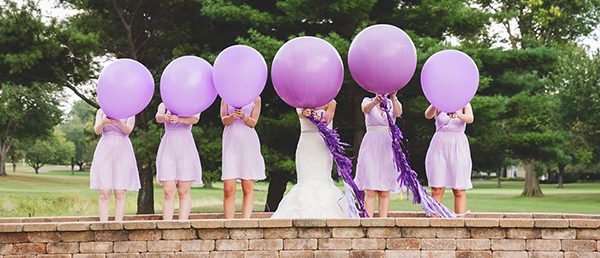 lila luftballons hochzeit