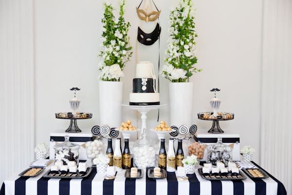 Candybar Hochzeit schwarz weiss (3)