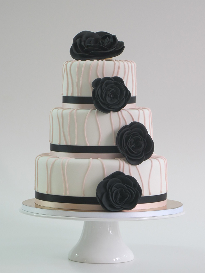 Hochzeitstorte schwarz weiss (2)
