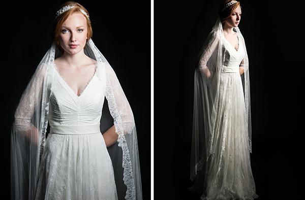 Kleid mit Schleier