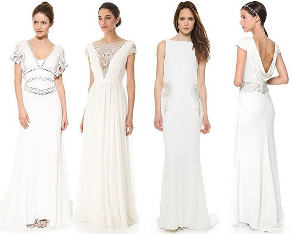 Brautkleid mit Glitzer