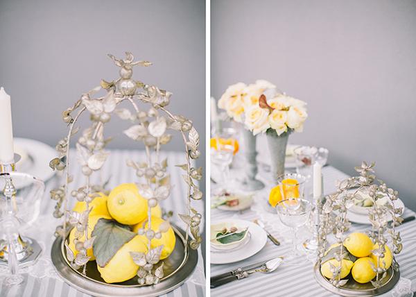 Hochzeitsdeko Gelb und Mint (1)
