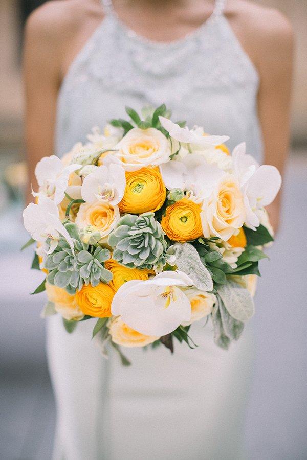 Hochzeitsdeko Gelb und Mint (10)