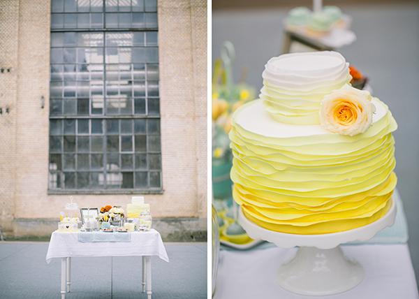 Hochzeitsdeko Gelb und Mint (2)