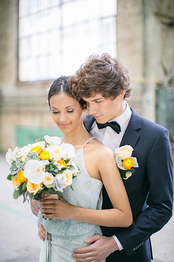 Hochzeitsdeko Gelb und Mint (27)