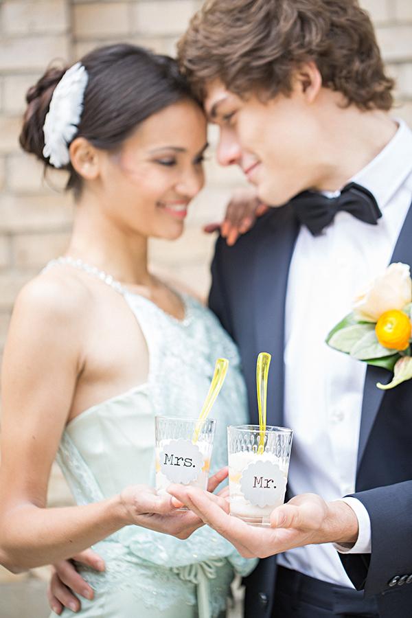 Hochzeitsdeko Gelb und Mint (39)