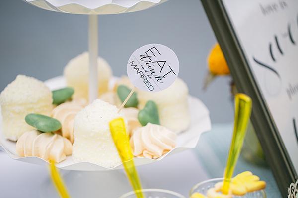 Hochzeitsdeko Gelb und Mint (48)
