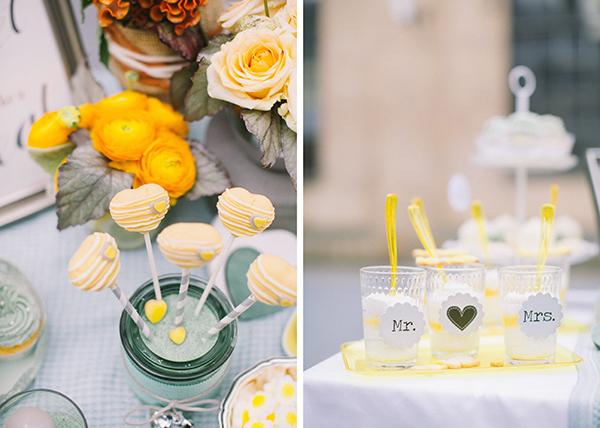 Hochzeitsdeko Gelb und Mint (52)