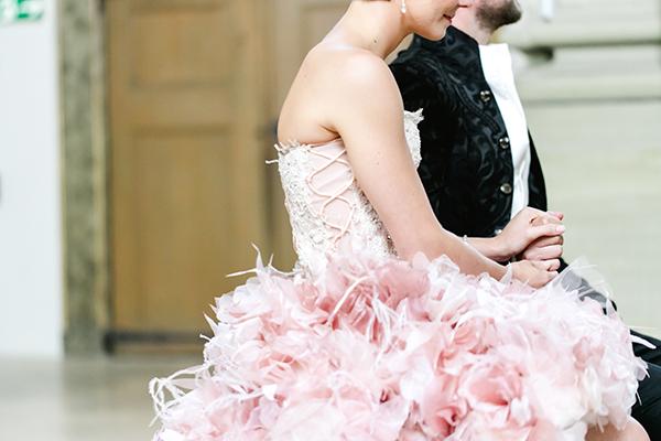 Hochzeit rosa Brautkleid (1)