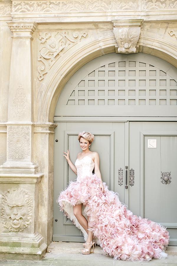 Hochzeit rosa Brautkleid (2)