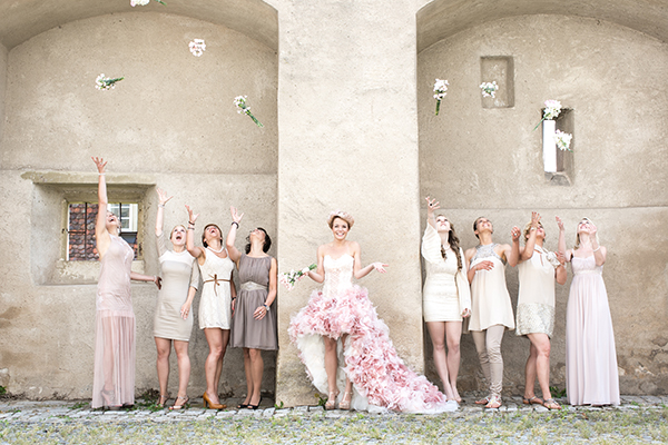 Hochzeit rosa Brautkleid (5)