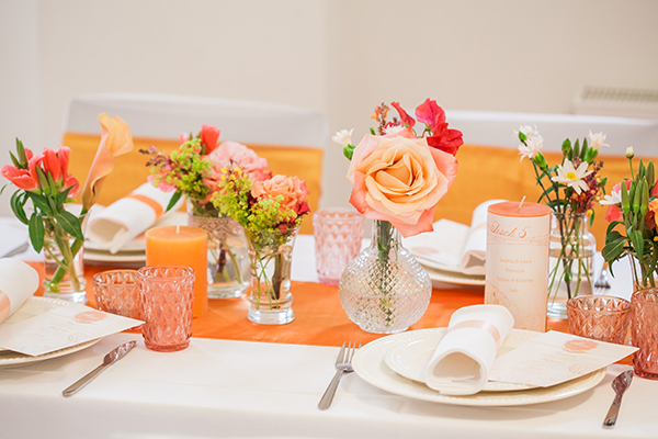 Hochzeitsdeko rosa orange die besten momente der for Dekoration jugendweihe