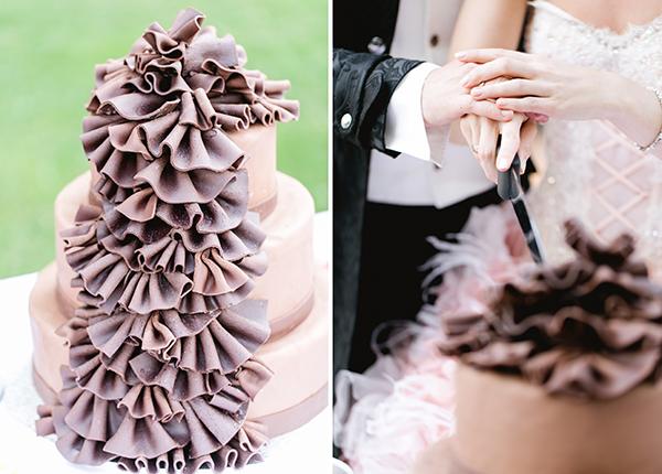 Hochzeitstorte lila